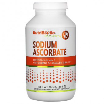 Sodium ascorbate NutriBiotic 454г